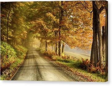 Cloudland Road In Vermont Canvas Print by Jeff Folger