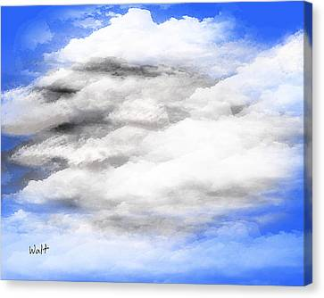 Canvas Print featuring the digital art Clouds 2 by Walter Chamberlain