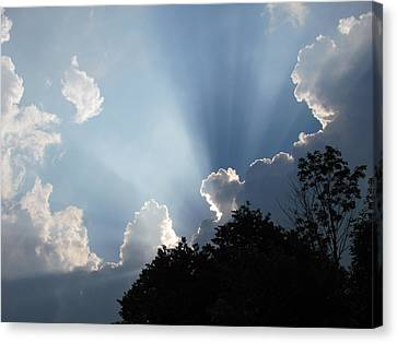 Canvas Print featuring the photograph Clouds 9 by Douglas Pike