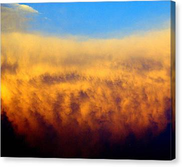 Clouds Ablaze Canvas Print by Marty Koch