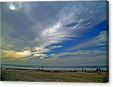 Canvas Print featuring the photograph Clouds And Blue by Christopher Woods