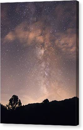 Canvas Print featuring the photograph Clouds And Milky Way by Wanda Krack