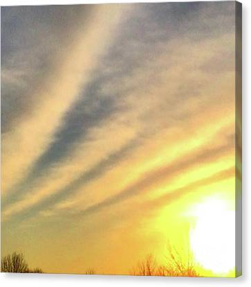 Canvas Print featuring the photograph Clouds And Sun by Sumoflam Photography