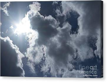 Canvas Print featuring the photograph Clouds And Sunlight by Megan Dirsa-DuBois