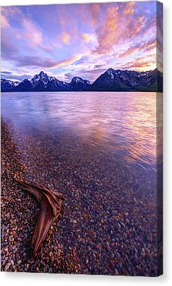 Teton Canvas Print - Clouds And Wind by Chad Dutson
