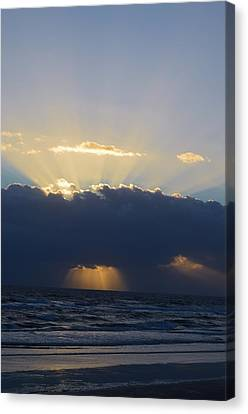 Clouds At Sunrise At Ormond Beach Canvas Print