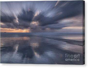 Clouds At Sunset Canvas Print by Masako Metz