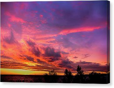 Canvas Print featuring the photograph Clouds At Sunset by Onyonet  Photo Studios