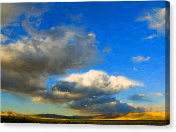 Clouds Canvas Print by Betty LaRue