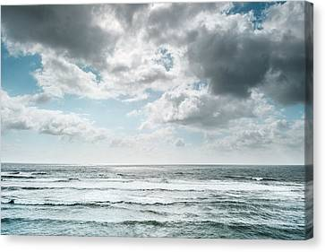 Canvas Print featuring the photograph Clouds Dream Of Being Oceans by Alexander Kunz