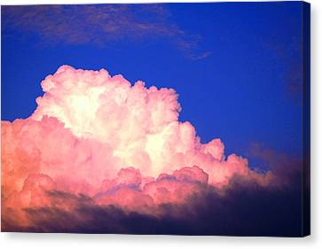 Clouds In Mystical Sky Canvas Print by Lisa Johnston