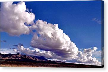 Clouds Marching Canvas Print