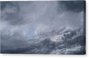 Canvas Print featuring the photograph Clouds by Megan Dirsa-DuBois