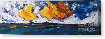 Clouds Of Fire Canvas Print by Debora Cardaci
