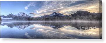 Clouds Of Morning Over Mountains Canvas Print