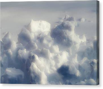 Clouds Of Snow Canvas Print by Wim Lanclus