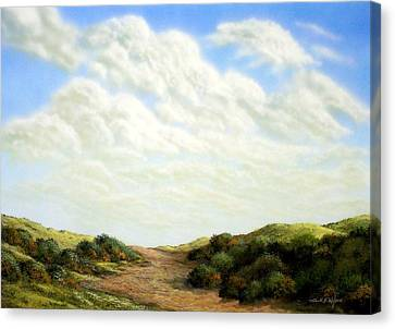 Clouds Of Spring Canvas Print by Frank Wilson