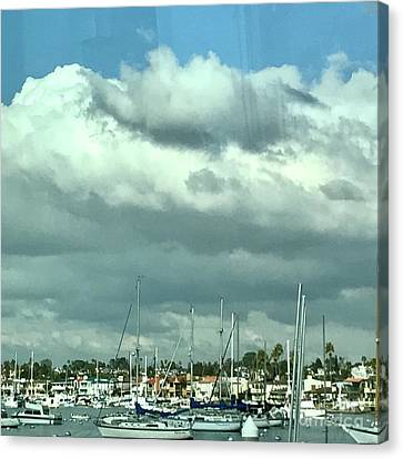 Canvas Print featuring the photograph Clouds On The Bay by Kim Nelson