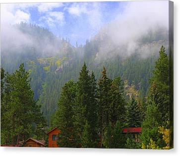 Clouds On The Mountain Canvas Print