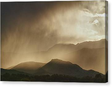 Clouds On The Rocky Mountains Front Range Foothills Canvas Print by James BO  Insogna