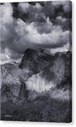 Clouds Over Bridal Veil Falls Canvas Print