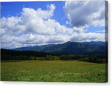 Clouds Over Cades 2 Canvas Print by Laurie Perry