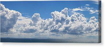 Clouds Over Catalina Island - Panorama Canvas Print
