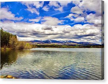 Clouds Over Distant Mountains Canvas Print by Jeff Kolker