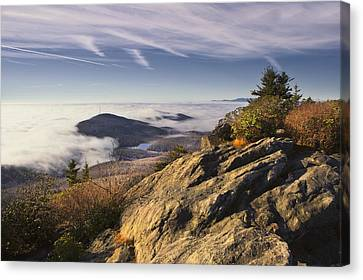 Clouds Over Grandmother Mountain Canvas Print