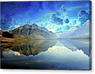 Clouds Over Lake Mcdonald 2 Canvas Print
