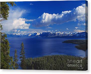 Clouds Over Lake Tahoe Canvas Print by Vance Fox