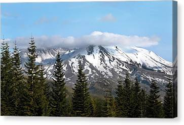 Clouds Over Mount St Helen Canvas Print