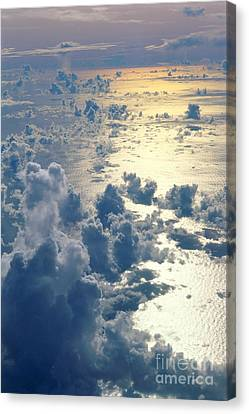 Salt Air Canvas Print - Clouds Over Ocean by Ed Robinson - Printscapes