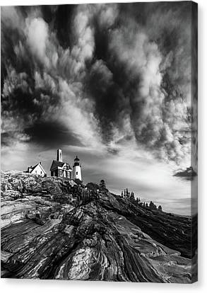 Clouds Over Pemaquid Lighthouse Canvas Print by Darren White