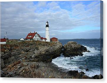 Clouds Over Portland Head Lighthouse Canvas Print