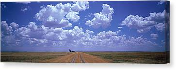 Clouds Over Prairie Amarillo Tx Canvas Print by Panoramic Images
