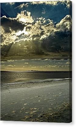 Clouds Over The Bay Canvas Print by Christopher Holmes
