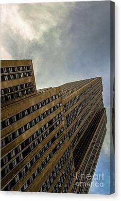 Clouds Over The Building  Canvas Print by Victory Designs