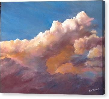 Clouds Over The Island Canvas Print by Jack Skinner