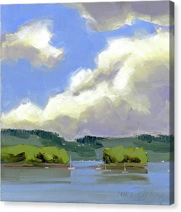 Clouds Over The Islands Canvas Print by Mary Byrom