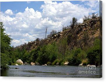 Clouds Over The Kern Canvas Print