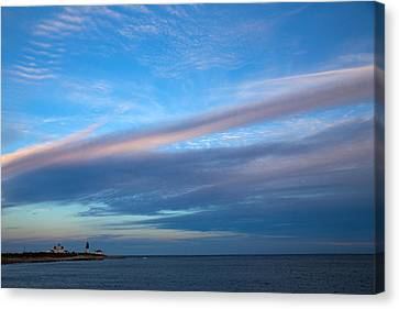 Clouds Over The Point Canvas Print