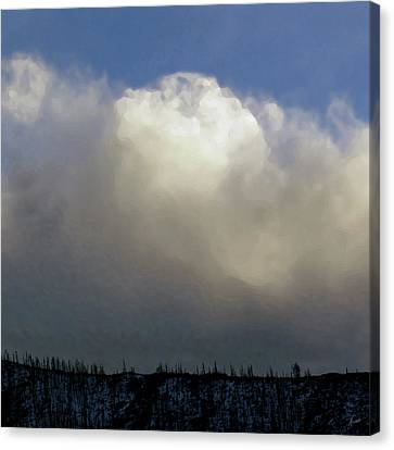 Clouds Over The Ridge Canvas Print by Agustin Goba