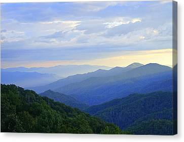 Clouds Over The Smokey's Canvas Print by Laurie Perry