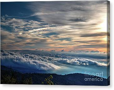Canvas Print featuring the photograph Clouds Over The Smoky's by Douglas Stucky
