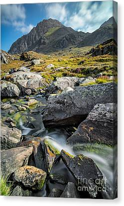 Cwm Idwal Canvas Print - Clouds Over Tryfan by Adrian Evans