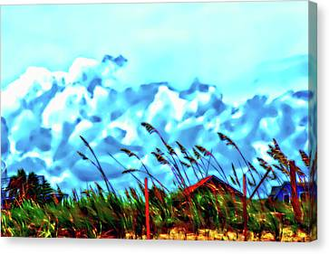 Clouds Over Vilano Beach Canvas Print