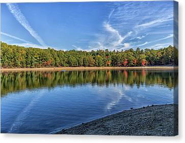 Thoreaus Cabin Canvas Print - Clouds Over Walden Pond by Brian MacLean
