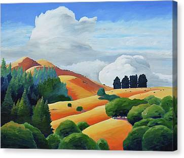 Clouds Over Windy Hill Canvas Print by Gary Coleman