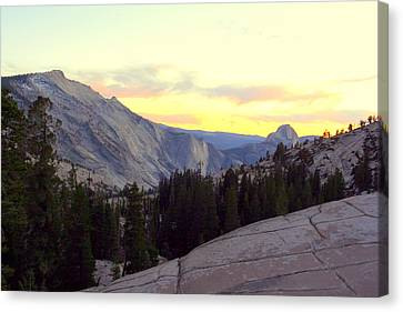 Canvas Print featuring the photograph Clouds Rest And Half Dome by Lynn Bawden